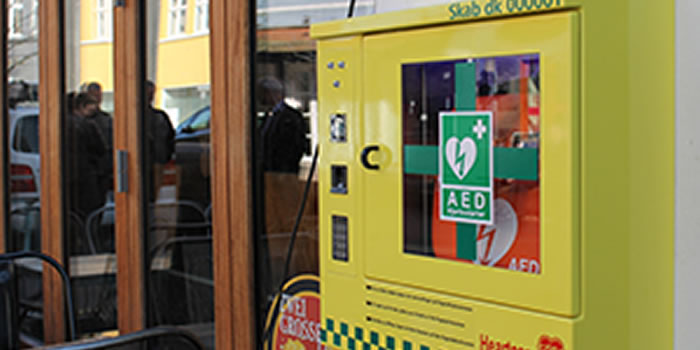 Access to defibrillator wall case