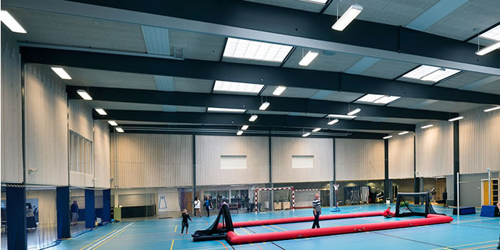 ID controls the light settings in sports halls